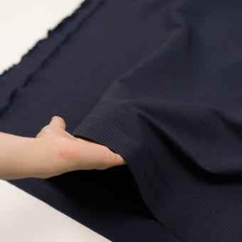 ウール&ポリウレタン×チェック&ボーダー(グレープ&ブラック)×千鳥格子ストレッチ_全2色_イタリア製 サムネイル5