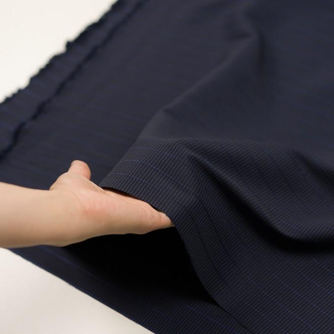 ウール&ポリウレタン×チェック&ボーダー(グレープ&ブラック)×千鳥格子ストレッチ_全2色_イタリア製 イメージ5