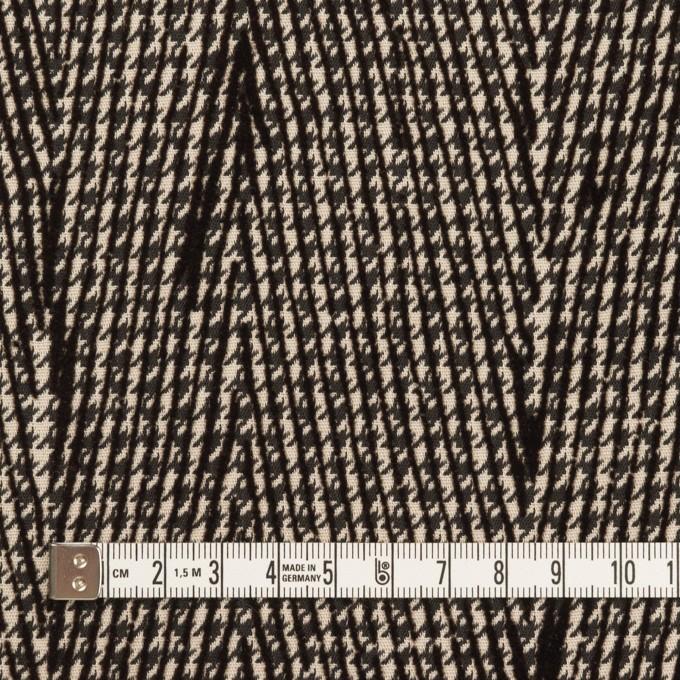ポリエステル×チェック(ダークブラウン)×千鳥格子_フロッキー_イタリア製 イメージ4