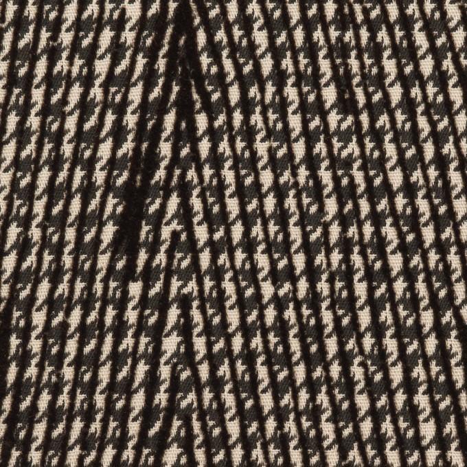 ポリエステル×チェック(ダークブラウン)×千鳥格子_フロッキー_イタリア製 イメージ1