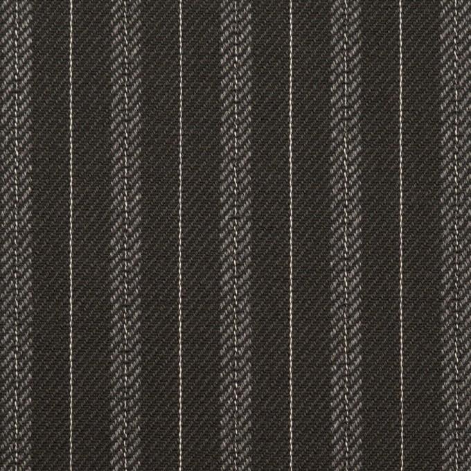 コットン×ストライプ(チャコール)×チノクロス イメージ1