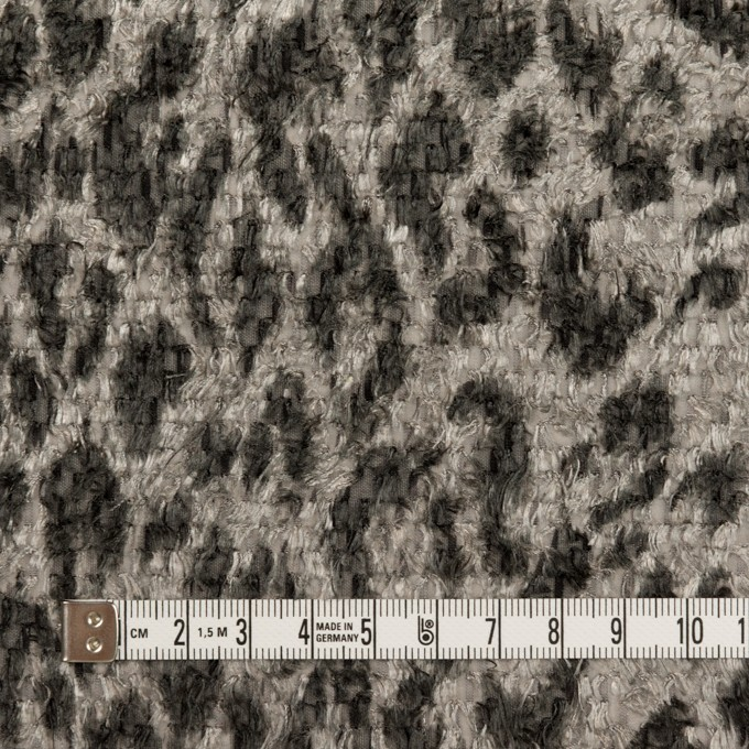 ポリエステル×レオパード(グレー)×ジャガード・カットジャガード_全2色 イメージ4
