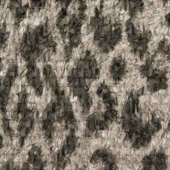 ポリエステル×レオパード(グレー)×ジャガード・カットジャガード_全2色