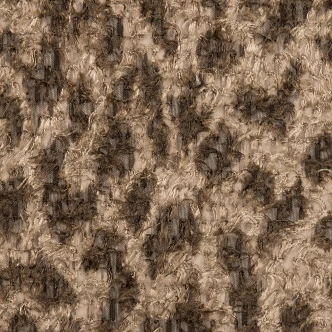 ポリエステル×レオパード(モカ)×ジャガード・カットジャガード_全2色 イメージ1