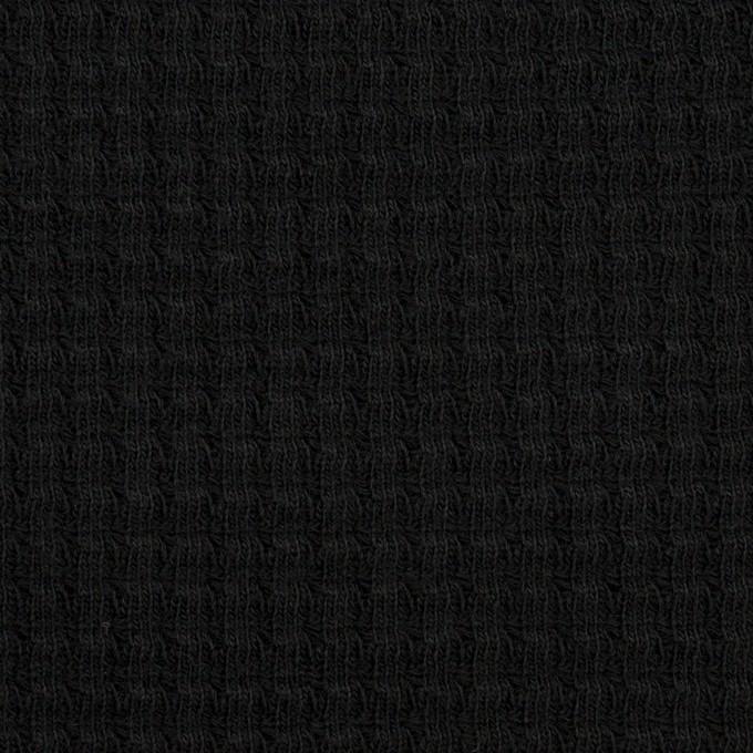 コットン×無地(ブラック)×Wニット_全3色 イメージ1