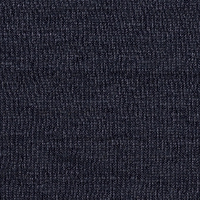 リネン&コットン×無地(ネイビー)×W天竺ニット イメージ1