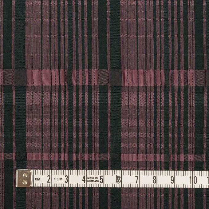 コットン&キュプラ混×チェック(ローズ&ブラック)×ジャガード・ストレッチ イメージ4