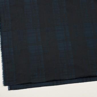 ポリエステル×チェック(ネイビー&ブラック)×形状記憶タフタジャガード サムネイル2