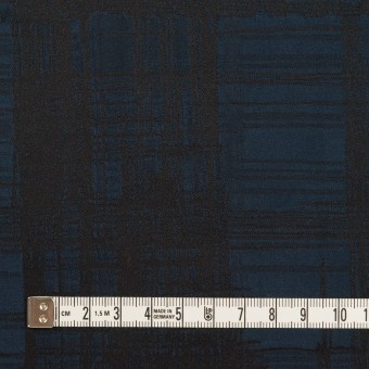 ポリエステル×チェック(ネイビー&ブラック)×形状記憶タフタジャガード サムネイル4