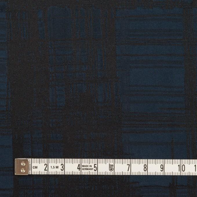 ポリエステル×チェック(ネイビー&ブラック)×形状記憶タフタジャガード イメージ4