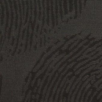 ポリエステル&コットン混×幾何学模様(チャコール)×グログラン・ジャガード_パネル