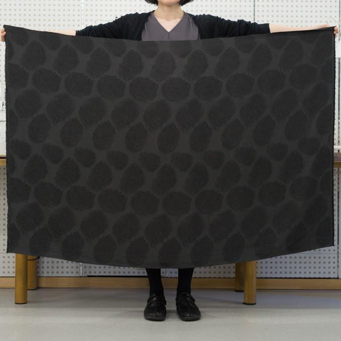 ポリエステル&コットン混×幾何学模様(チャコール)×グログラン・ジャガード_パネル イメージ6