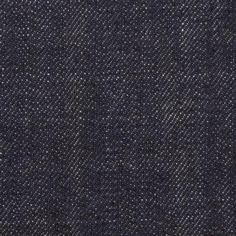 【110cmカット】コットン×無地(インディゴ)×セルビッチ・デニム(13oz)