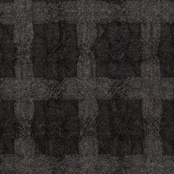 ウール&ポリエステル×チェック(グレー&チャコール)×ガーゼ サムネイル1
