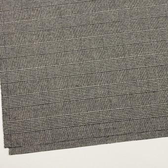 ウール&ポリエステル混×チェック(アイボリー&ブラック)×ツイードストレッチ サムネイル2