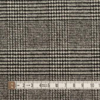ウール&ポリエステル混×チェック(アイボリー&ブラック)×ツイードストレッチ サムネイル4