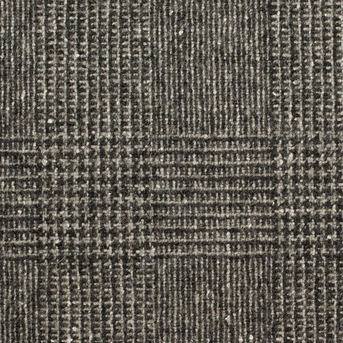 ウール×チェック(チャコールグレー)×ツイード イメージ1