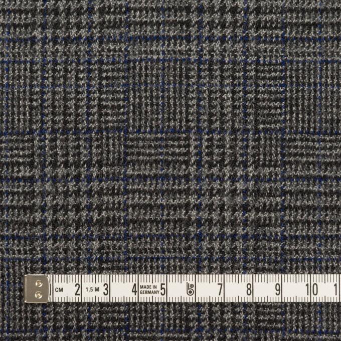 ウール&ポリウレタン×チェック(チャコールグレー)×ツイードストレッチ イメージ4