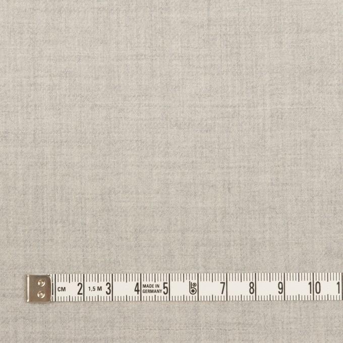 ウール×無地(ライトグレー)×サージ イメージ4