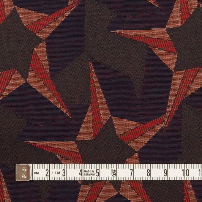 ポリエステル&コットン×幾何学模様(アプリコット&ネイビー)×フクレジャガード イメージ4