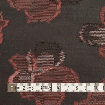 ポリエステル×フラワー(チャコールグレー)×形状記憶タフタジャガード_全3色 サムネイル4