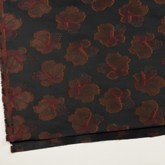 ポリエステル×フラワー(ブラック)×形状記憶タフタジャガード_全3色 サムネイル2