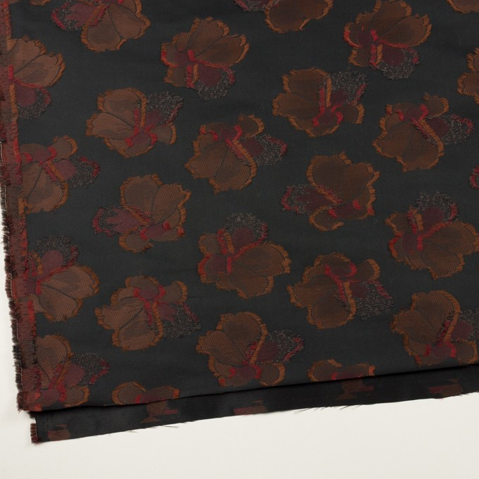 ポリエステル×フラワー(ブラック)×形状記憶タフタジャガード_全3色 イメージ2