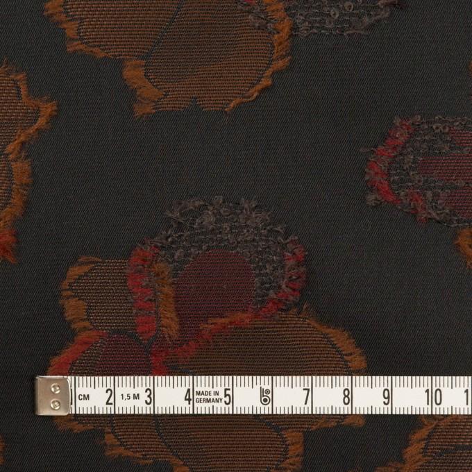 ポリエステル×フラワー(ブラック)×形状記憶タフタジャガード_全3色 イメージ4