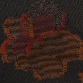 ポリエステル×フラワー(ブラック)×形状記憶タフタジャガード_全3色 サムネイル1