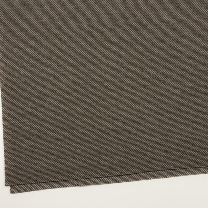 ウール&アクリル×ミックス(アッシュブラウン)×かわり織 イメージ2
