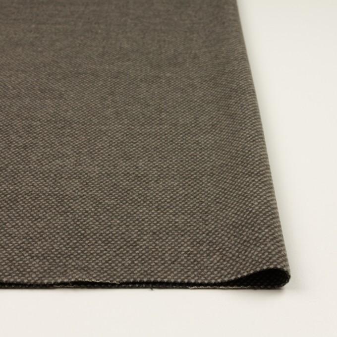 ウール&アクリル×ミックス(アッシュブラウン)×かわり織 イメージ3