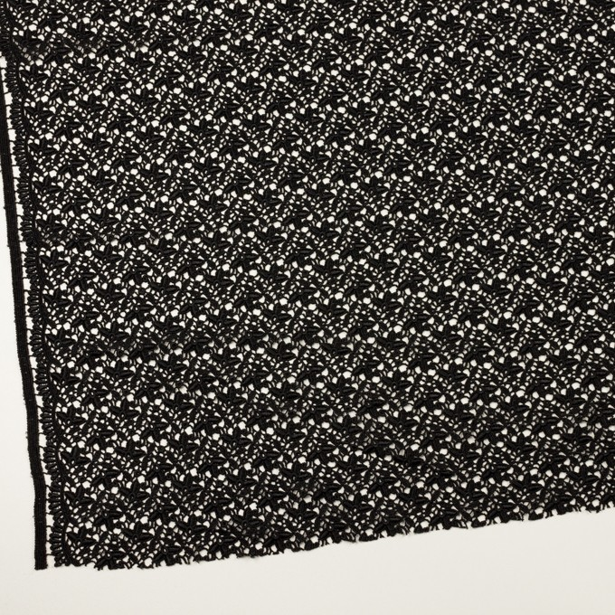 レーヨン×フラワー(ブラック)×ケミカルレース_全2色 イメージ2