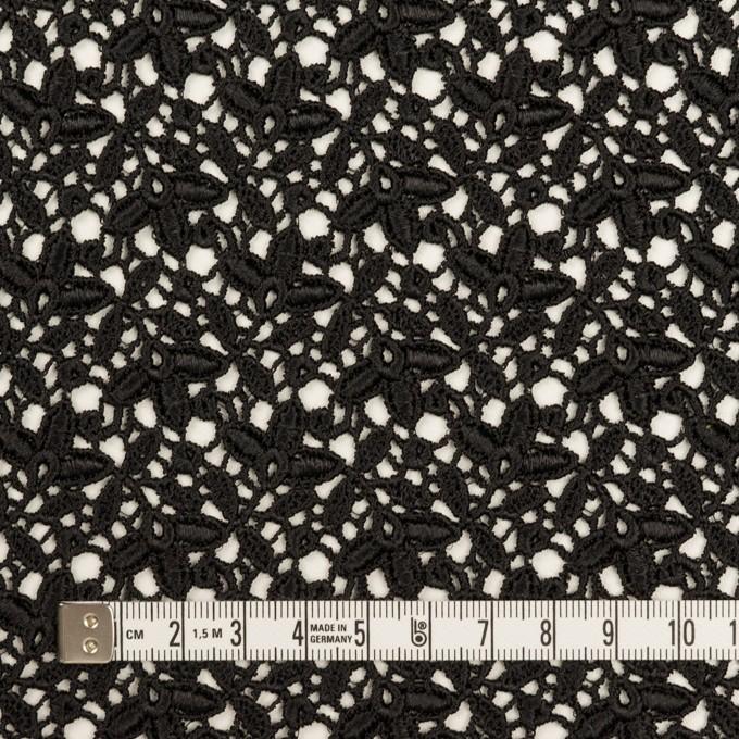 レーヨン×フラワー(ブラック)×ケミカルレース_全2色 イメージ4