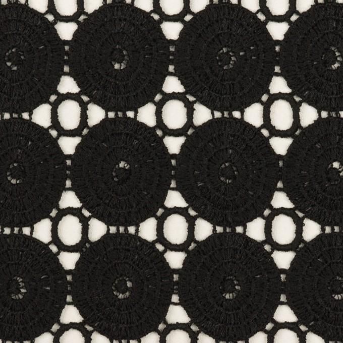 コットン×サークル(ブラック)×ケミカルレース イメージ1