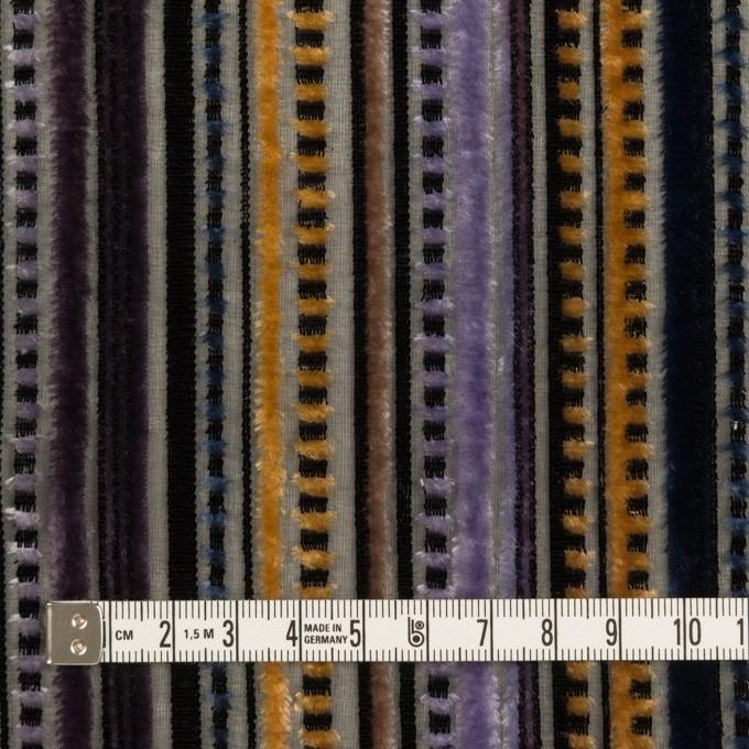 レーヨン&ポリエステル×ストライプ(バイオレット&ネイビー)×オパールベルベット_全2色_フランス製 イメージ4
