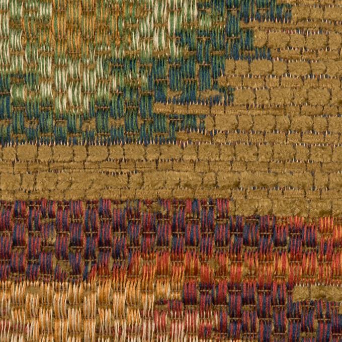 ポリエステル&ビスコース混×幾何学模様(マルチ)×ゴブラン織_イタリア製 イメージ1