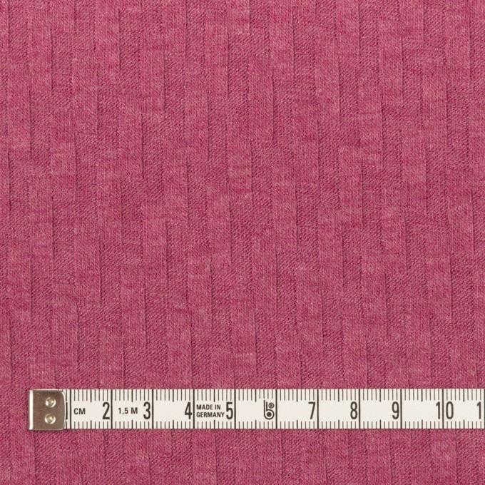 アクリル&レーヨン×無地(チェリーピンク)×ジャガードニット イメージ4
