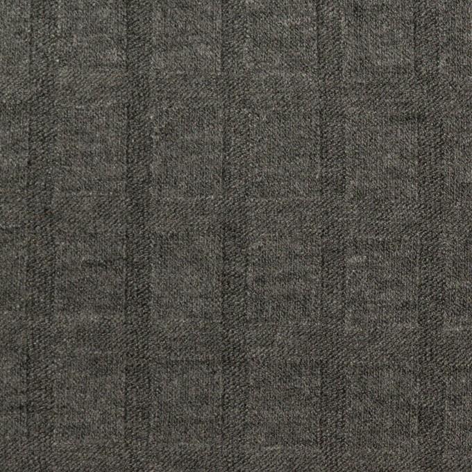 アクリル&レーヨン×無地(チャコールグレー)×ジャガードニット イメージ1