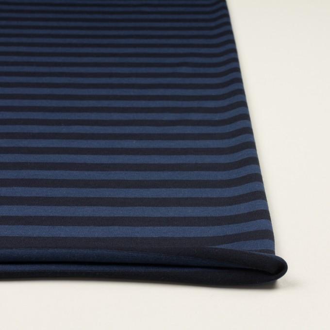ウール×ボーダー(マリンブルー&ブラック)×天竺ニット_全2色 イメージ3