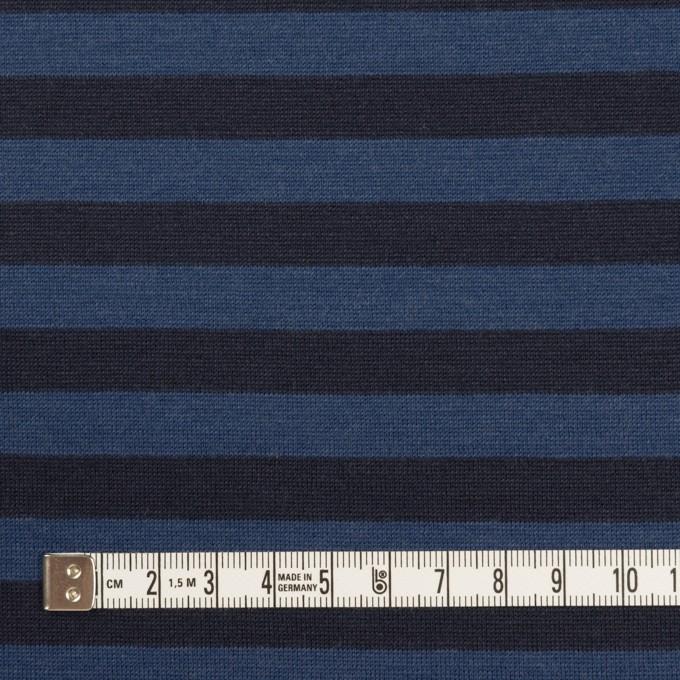 ウール×ボーダー(マリンブルー&ブラック)×天竺ニット_全2色 イメージ4