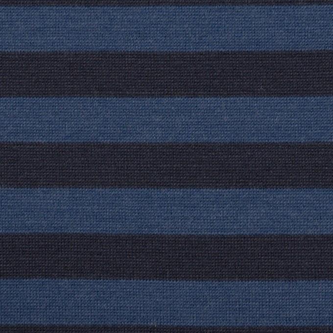ウール×ボーダー(マリンブルー&ブラック)×天竺ニット_全2色 イメージ1