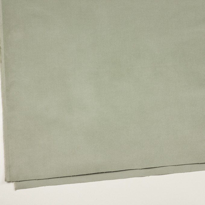 コットン&ポリウレタン×無地(セージグリーン)×細コーデュロイ・ストレッチ イメージ2