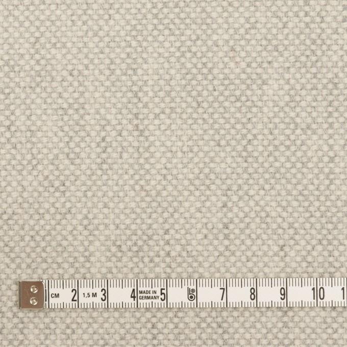 ウール&アンゴラ×ミックス(ライトグレー)×斜子織_全4色 イメージ4