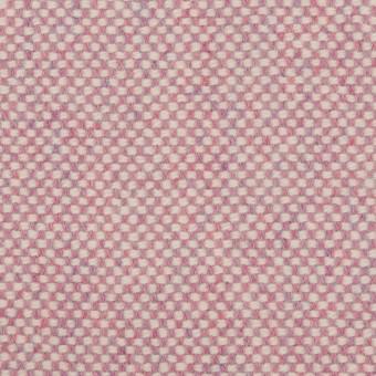 ウール&アンゴラ×ミックス(ピンク)×斜子織_全4色 サムネイル1