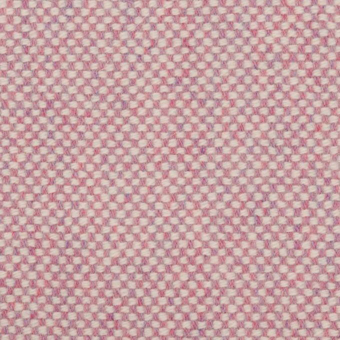 ウール&アンゴラ×ミックス(ピンク)×斜子織_全4色 イメージ1