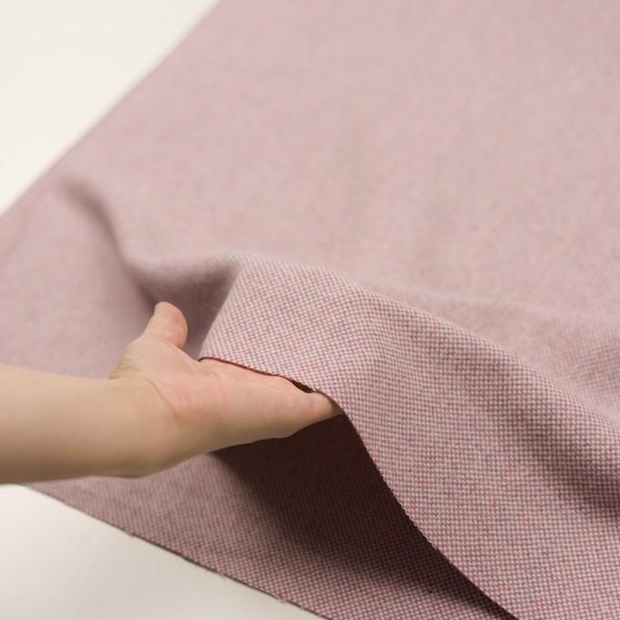 ウール&アンゴラ×ミックス(ピンク)×斜子織_全4色 イメージ5