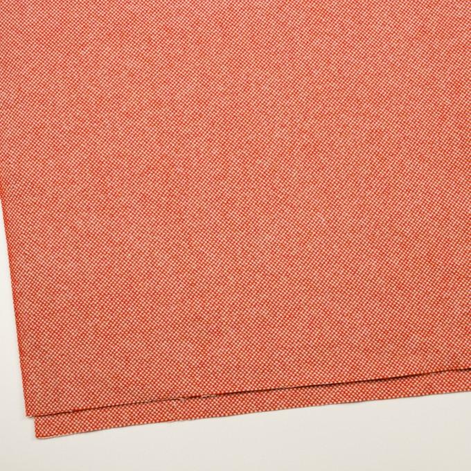 ウール&アンゴラ×ミックス(オレンジレッド)×斜子織_全4色 イメージ2