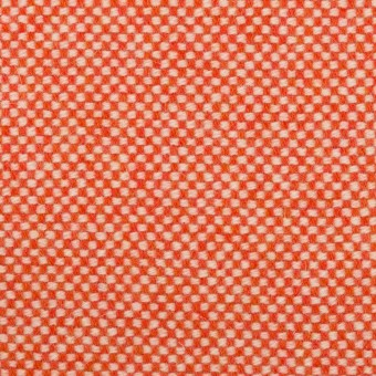 ウール&アンゴラ×ミックス(オレンジレッド)×斜子織_全4色