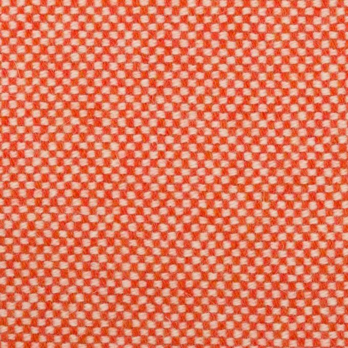 ウール&アンゴラ×ミックス(オレンジレッド)×斜子織_全4色 イメージ1