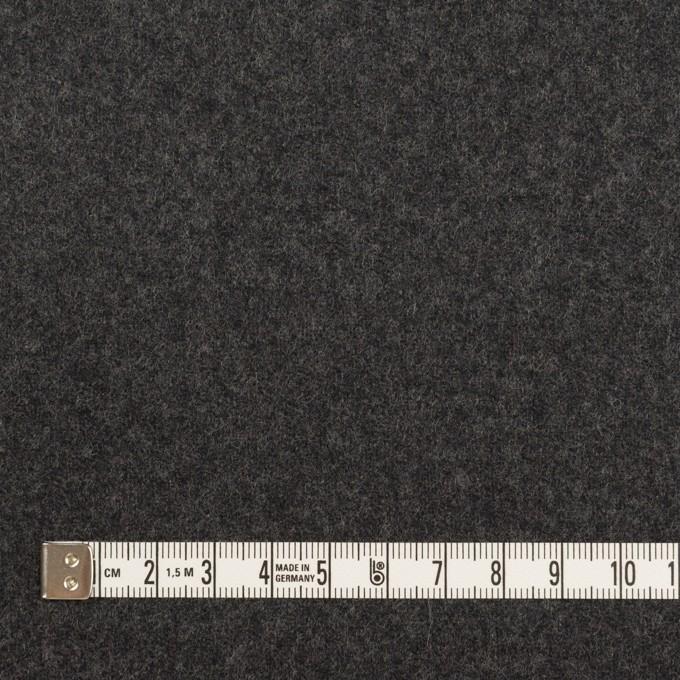 ウール×無地(チャコールグレー)×フラノ(フランネル) イメージ4